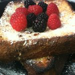 Best thick French Toast on an iron skillet at The Betsy