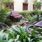 Calm hotel gardens