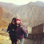 us at the great wall!