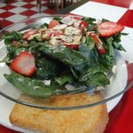 Spinach and Strawberry Salad.....YUM