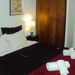 La misma habitación, pero le cambiaron unos días después cobertor y piecera y
