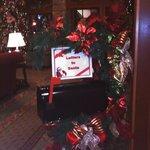 In lower lobby