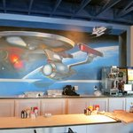 Restaurant mural at the Best Western Space Age Lodge