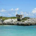 Mayan ruin on beach