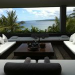 living area with a great view