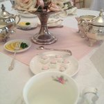 Table Setting - beautiful sugar cubes!