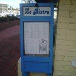 Le Bistro menu board