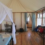 Our tent, interior