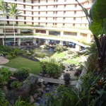 view of resort's interior courtyard