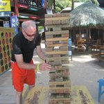 Giant Jenga, fun when everyone claps and cheers...
