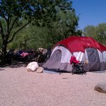Our campsite right behind is the river...gorgeous!
