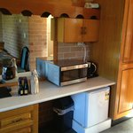 Microwave, toaster and coffe making facilities
