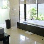 Bathroom - Includes Bath-tub, shower, make-up table, wardrobe & tv
