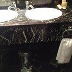 marble vanity top in bathroom