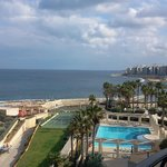 The rear of the Hilton Malta