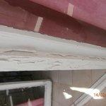 peeling paintwork on balcony