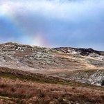 rainbow over the nearby Glenkiln valley