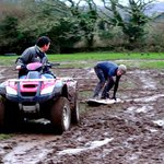 Mud surfing madness in mid winter!
