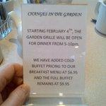 Breakfast Information
