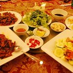 Part of our dinner that night - lots of Vietnamese food, overall very good!