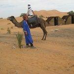 io e M'barek in partenza per l'oasi
