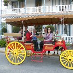 Taking a carriage ride in front of the Inn