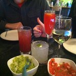 Drinks, Salsa and Guac at Isalita