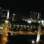 Marina Square view.  Pretty at night.  Construction site is on the left (not i