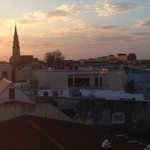 Enjoy afternoon wine and cheese while watching the sunset from the Roof Top pa