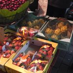 Fruti stall outside the hotel