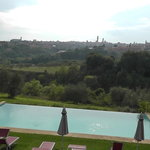 Beautiful Tuscan scenery from the grounds of the B&B