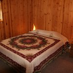 Knotty Pine interior of Cabins