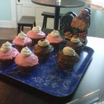 home bakes cupcakes w/local flour, eggs & butter. NO MIXES, EVER!