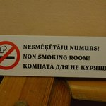 No smoking allowed!