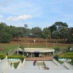 Garden area around meditation centre