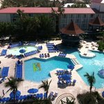 VIEW OF THE POOL AREA FROM ROOM #825