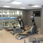 Fitness Room over looking the pool