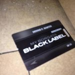 With a black label card. No lines for most restaurants, valet and check in/out