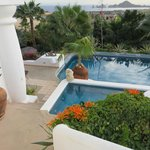 View of El Arco de Cabos from the Pool at Case Contenta