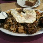 Pork hash breakfast