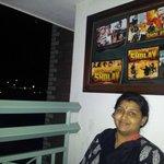 at the balconey