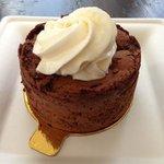 Flourless chocolate cake was gluten free and amazing!