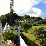View of the Plantation House from the breakfast veranda