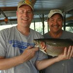 Pretty rainbow trout caught on Taneycomo in Branson!