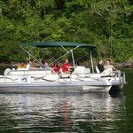 Pontoons available for fishing or cruising for guests and public alike!