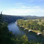 Taneycomo runs like a river but is actually a lake.
