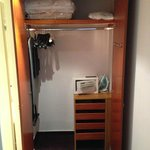 The contents of the wardrobe in the room