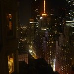 View from the room at night