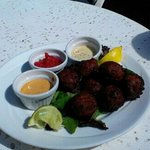 Delicious Conch Fritters...Poolside.