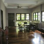 Inside bungalow